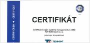 Certifikát Česky